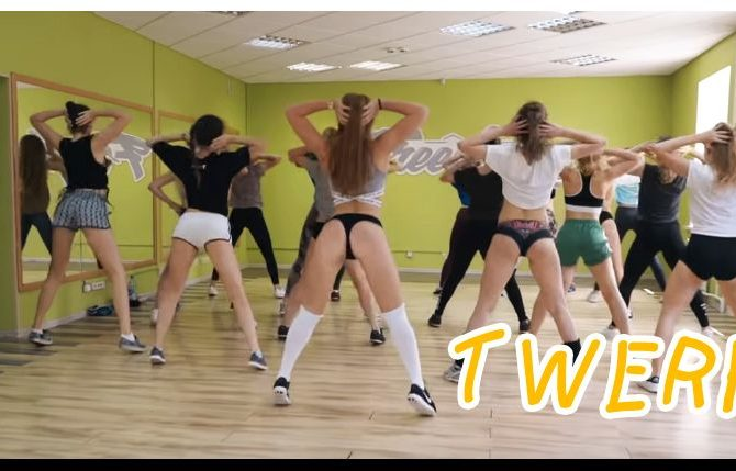 Hot twerk dance video